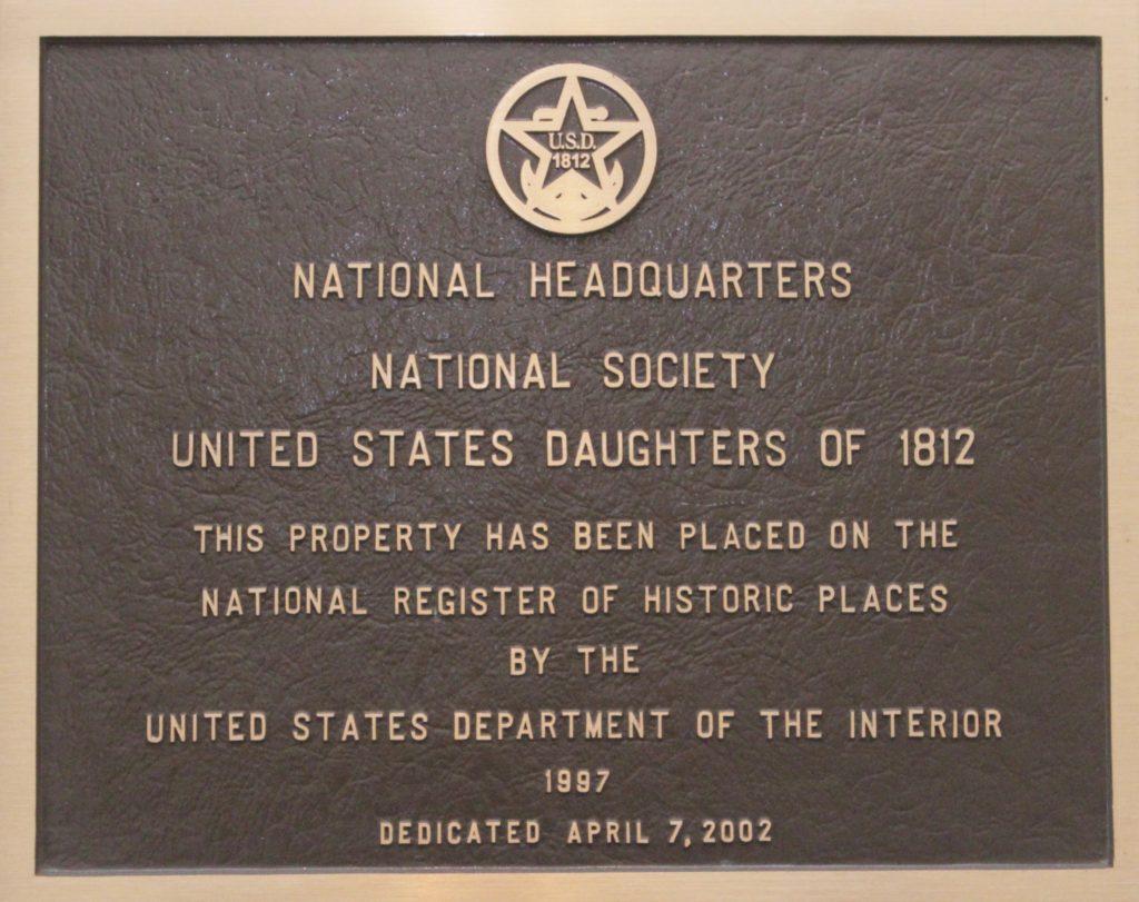 1812 Museum - National Headquarters Plaque
