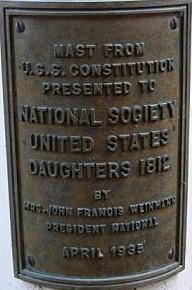 1812 Museum - Flag Pole Plaque